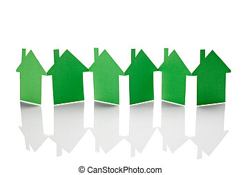 carta, costruzione, casa, proprietà, casa, reale