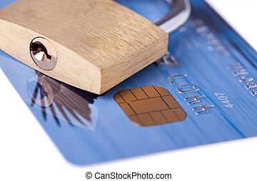 carta credito, lucchetto