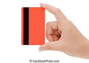 carta credito, mano femmina
