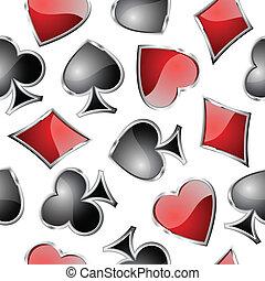 carta da gioco, simboli, seamlessly.