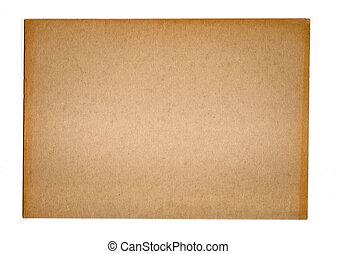 carta da pacchi, struttura, per, grafica, isolato, bianco, fondo