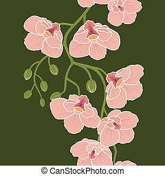 carta da parati, seamless, orchidee