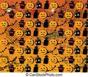 carta da parati, vettore, halloween