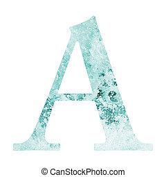 carta, de, agua, alfabeto