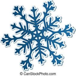 carta, fiocco di neve