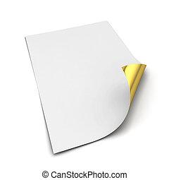carta, foglio, a4