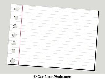 carta, fondo, quaderno