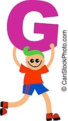carta g, niño