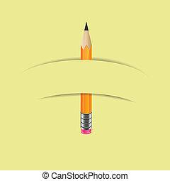 carta, grafite, bandiera, matita