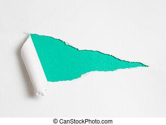 carta lacerata, buco, come, fondo, per, tuo, testo