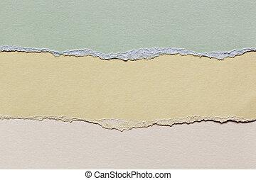 carta lacerata, con, spazio, per, testo