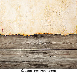 carta, legno, vecchio, fondo