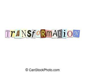 carta, lettere, trasformazione