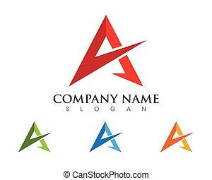 carta, logotipo, empresa / negocio, plantilla