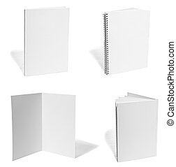 carta, manuale, vuoto, sagoma, bianco, quaderno, volantino