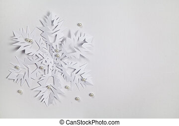 carta, multa, fiocco di neve