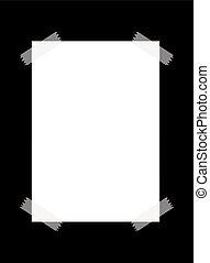 carta, nastro, trasparente, vuoto