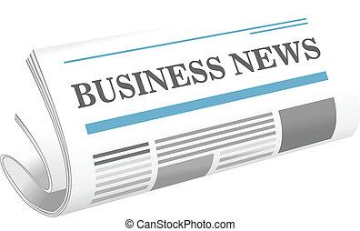 carta notizie, affari, icona