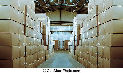 carta, prodotti, e, beni, magazzino