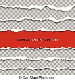 carta, profili di fodera, set, seamless, danneggiato