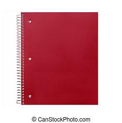 carta, quaderno, scuola, spirale