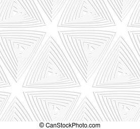 carta, ritagliare, triangoli, compensazione