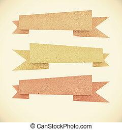 carta, struttura, etichetta, riciclato, carta, su,...