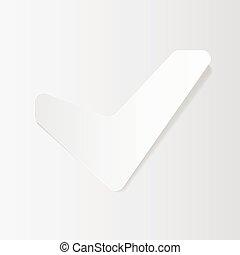 carta, taglio, segno