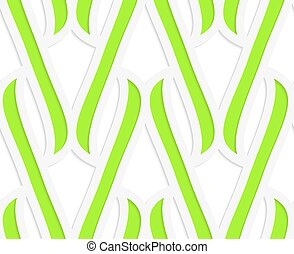 carta, taglio, verde, integrals, fuori