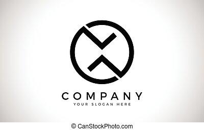 carta, template., creativo, empresa / negocio, vector, x, logotipo, diseño, inicial, tipografía, resumen, moderno