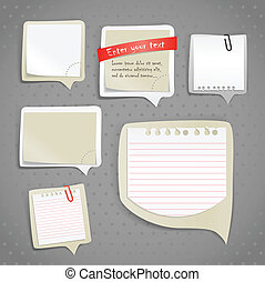 carta, testo, bolle, clip-art