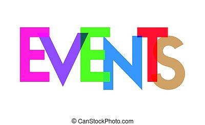 carta, transparant, acontecimientos, colorido