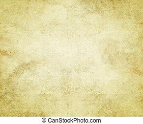 carta, vecchio, o, pergamena
