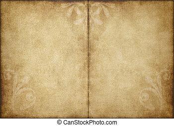 carta, vecchio, pergamena