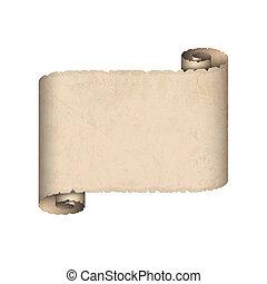 carta, vecchio, rotolo