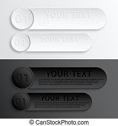 carta, web, bottone, interfaccia