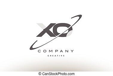 carta, xo, x, gris, o, logotipo, alfabeto, swoosh