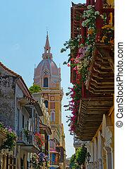 cartagène, rues, colombie