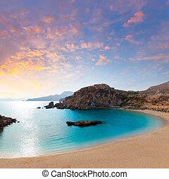 Cartagena Cala Cortina beach in Murcia Spain - Cartagena...