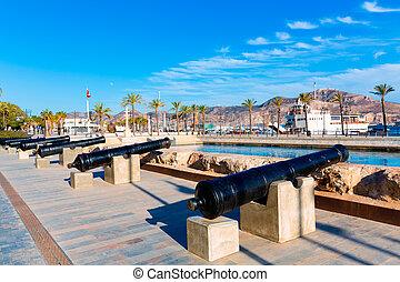 Cartagena cannon Naval museum port at Spain - Cartagena ...