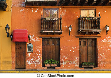 cartagena, ulice, kolumbia