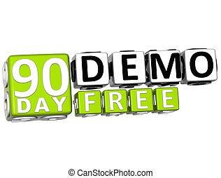 cartas, conseguir, demo, libre, 90, día, bloque, 3d