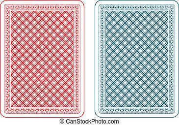 cartas de jogar, costas, epsilon