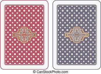 cartas de jogar, costas