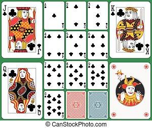 cartas de jogar, terno clube