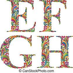 cartas, g, f, vendimia, h., e