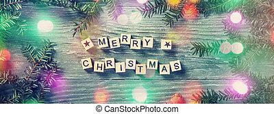 cartas, navidad, alegre