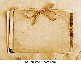 cartas, papel, vendimia, fotos, plano de fondo, viejo