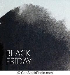 cartaz, abstratos, sexta-feira, promocional, aquarela,...