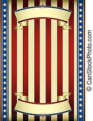 cartaz, americano, antigas